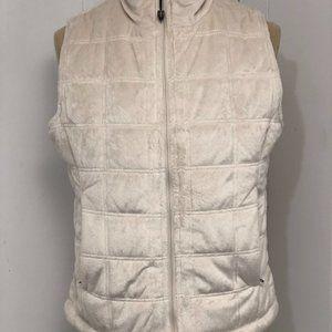 Womens Cream Vest. Large